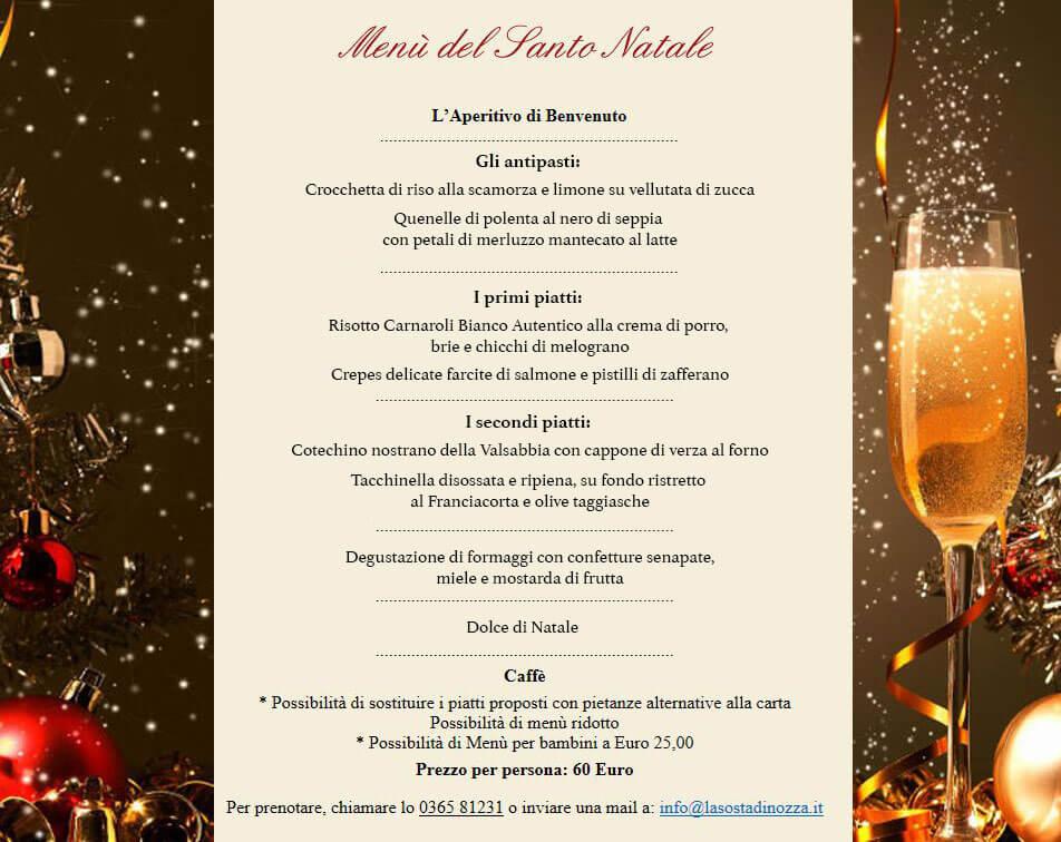 Menu Natalizio 2017 menu sosta 2017