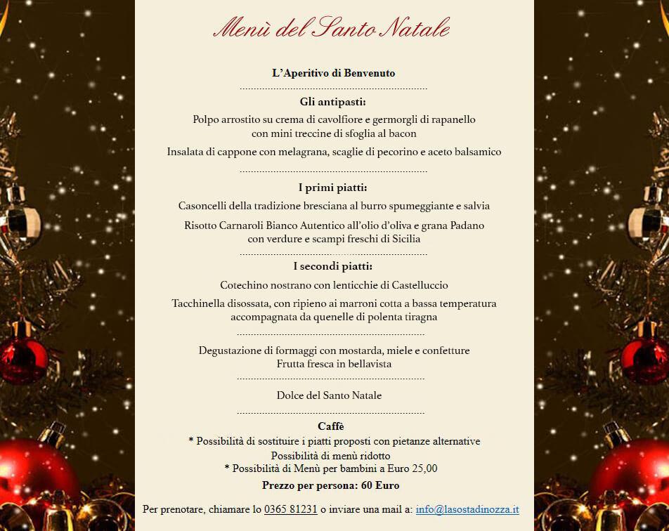 Menu Natalizio e Capodanno 2018 menu natale sosta 2018